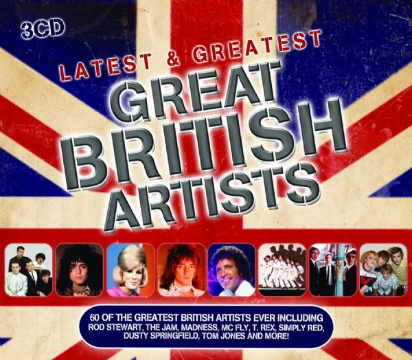 Latest & Greatest Great British Artists (60  Track 3CD Set, 2012) - New & Sealed